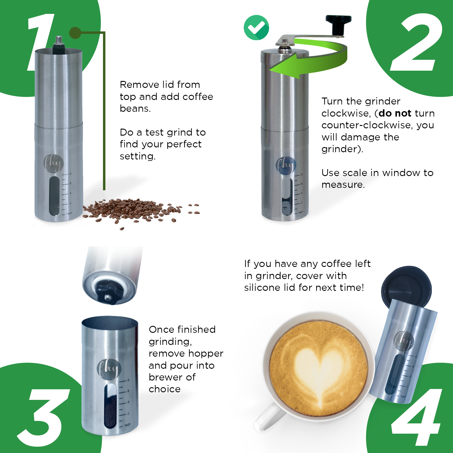 Manual Coffee Grinder with Conical Burr Mil
