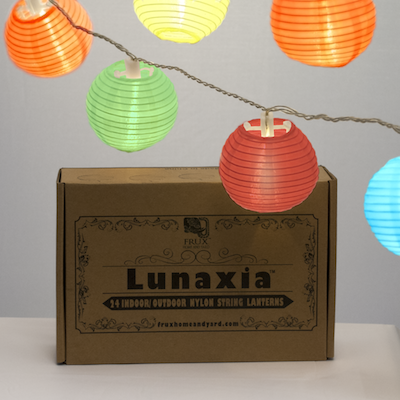 White Lanterns String Lights - 24 Indoor Outdoor Mini Nylon LED String Lights Extra Long 16ft With Remote Control - Extendable - Connect up to 3 Sets - Bonus Hanging Hooks by Frux Home and Yard