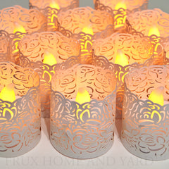 Tea Light Votive Wraps - 48 Pack for LED Battery Tealight Candles