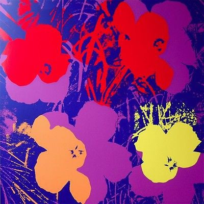 Flowers #66 (Sunday B. Morning), Silk-screen, Andy Warhol - with COA - Fine Artwork