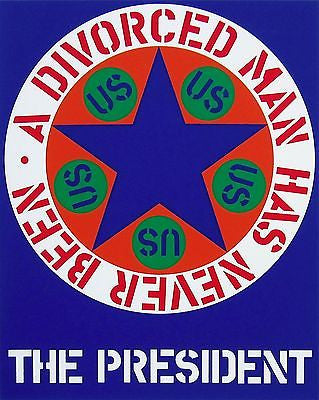 A Divorced Man Has Never Been The President , Ltd Ed Silk-screen, Robert Indiana - Fine Artwork