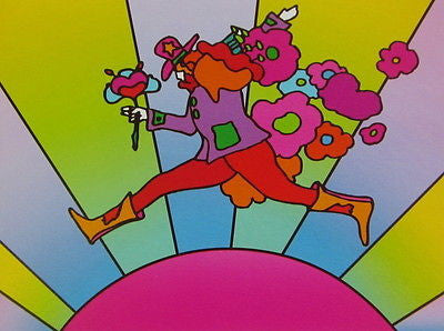 Flower Jumper Over Sunrise II by Peter Max - Fine Artwork