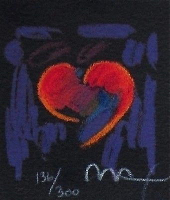 Heart Suite III #I (Mini), Limited Edition Lithograph, Peter Max - Fine Artwork