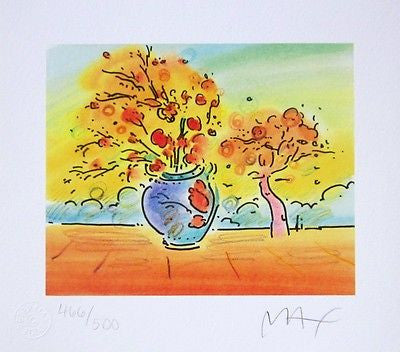 Vase with Tree II by Peter Max - Fine Artwork