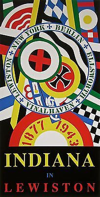 Indiana in Lewiston, Ltd Ed Silk-screen, Robert Indiana, LARGE - SIGNED - Fine Artwork