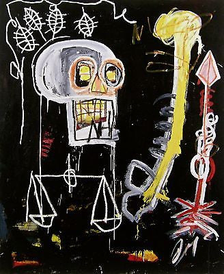 Untitled (Black Scull) - Jean-Michel Basquiat - Fine Artwork
