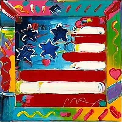 Flag by Peter Max - Fine Artwork
