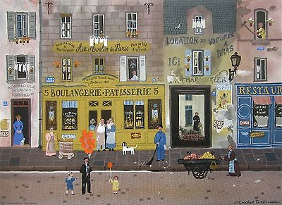 Au Moulin de Paris, Ltd Ed Lithograph, Michel Delacroix - Fine Artwork