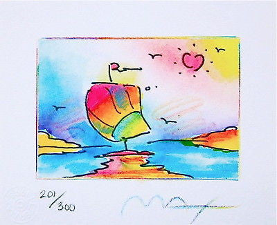 Sailboat Series II (Mini) by Peter Max - Fine Artwork
