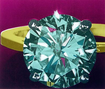 Diamond Ring, Ltd Ed Silk-screen, Richard Bernstein - Fine Artwork