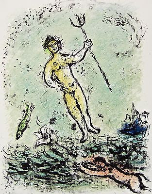 Poseidon (The Odyessy) 1989, Ltd Ed Lithograph, Marc Chagall - Fine Artwork