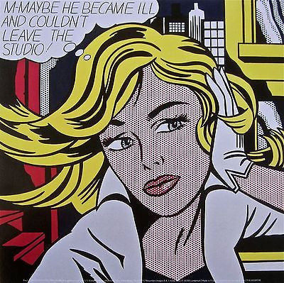 M-Maybe, Offset Lithograph, Roy Lichtenstein - Fine Artwork