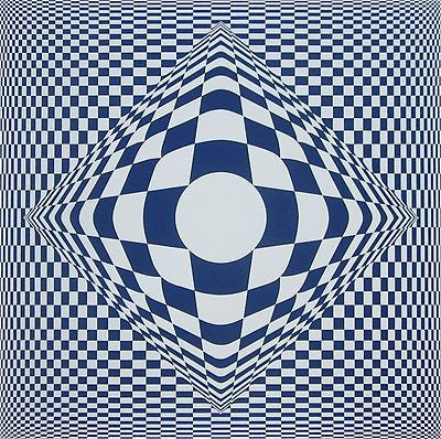 VERTIGO, Ltd Ed Silk-screen, Victor Vasarely - Fine Artwork