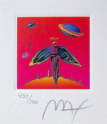 Angel with Saturn (mini), Limited Edition Lithograph, Peter Max - Fine Artwork