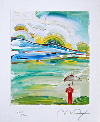 Umbrella Man at Sunrise by Peter Max - Fine Artwork