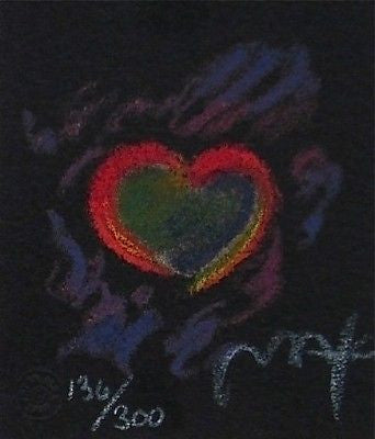 Heart Suite III #III (Mini), Limited Edition Lithograph, Peter Max - Fine Artwork