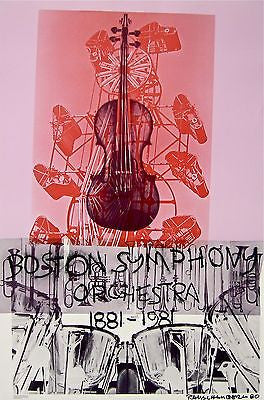 Boston Symphony, 1981 Exhibition Poster, Robert Rauschenberg - Fine Artwork