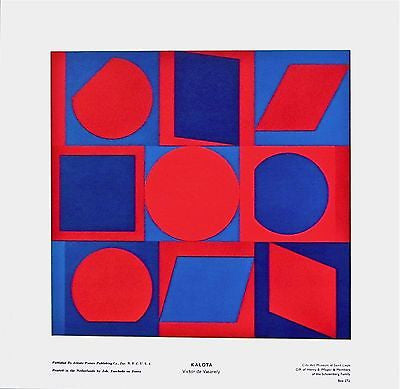 KALOTA, 1970s Exhibition Poster, Victor Vasarely - Fine Artwork
