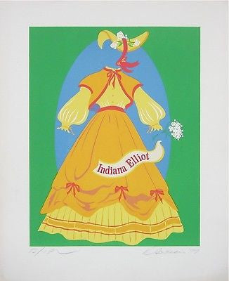 Indiana Elliot (Mother of Us All), Ltd Ed Lithograph, Robert Indiana - Fine Artwork