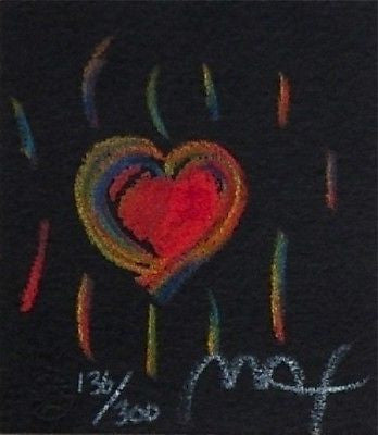 Heart Suite III #II (Mini), Limited Edition Lithograph, Peter Max - Fine Artwork