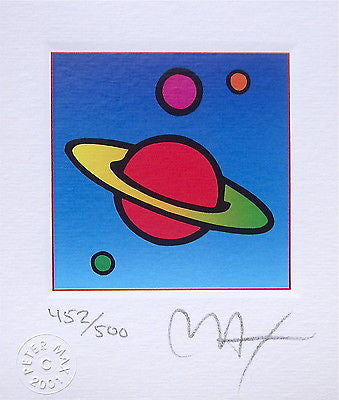 Cosmic Saturn (Mini), Limited Edition Lithograph, Peter Max - Fine Artwork