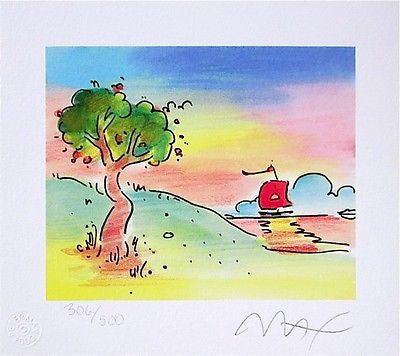 Quiet Lake by Peter Max - Fine Artwork