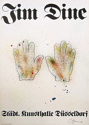 Hands, 1971 Exhibition Poster, Jim Dine - Fine Artwork
