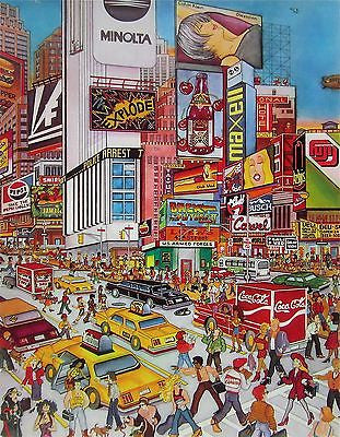 Times Square, Ltd Ed Silk-screen, Susannah MacDonald - Fine Artwork