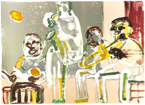 Tenor Sermon, Limited Edition Lithograph, Romare Bearden - Fine Artwork