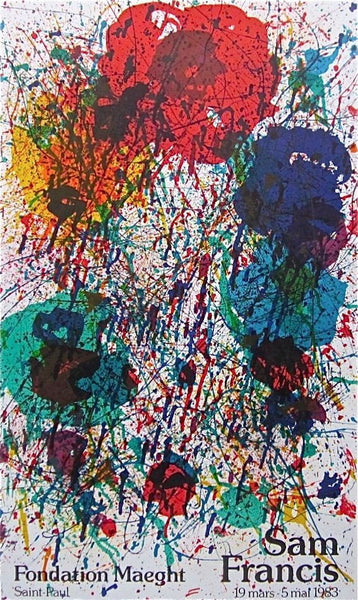 Untitled, 1983 Exhibition Poster, Sam Francis - Fine Artwork
