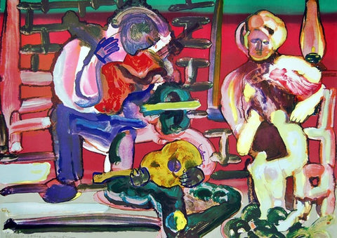 Louisiana Serenade, Limited Edition Lithograph, Romare Bearden - Fine Artwork