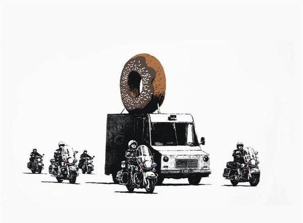 Donuts (Chocolate), Limited Edition Silkscreen, BANKSY - Fine Artwork