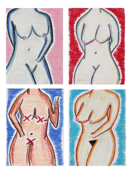 Chris van der Els - Study for Four Nudes - Fine Artwork