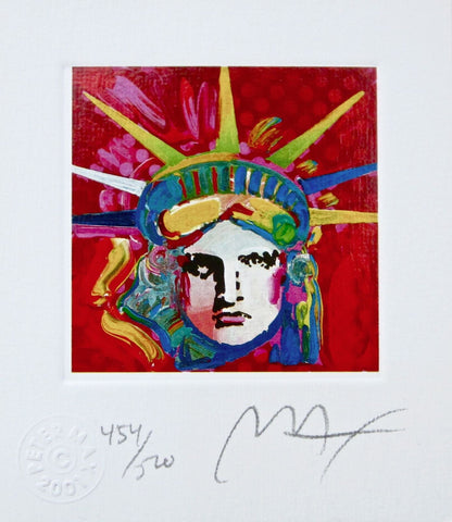 Liberty Head IV (Mini), Limited Edition Lithograph, Peter Max - Fine Artwork