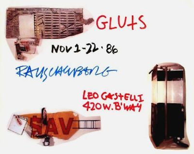 Gluts, 1986 Exhibition Poster, Robert Rauschenberg - Fine Artwork