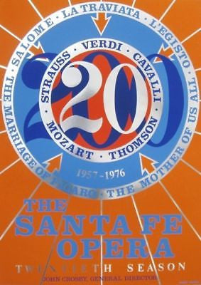 Santa Fe Opera 20th Season, 1976 Silk-screen Poster, Robert Indiana - Fine Artwork
