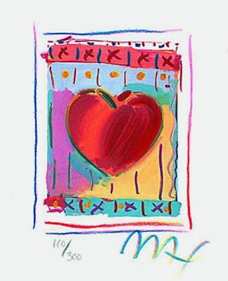 Heart Series II (Mini), Limited Edition Lithograph, Peter Max - Fine Artwork