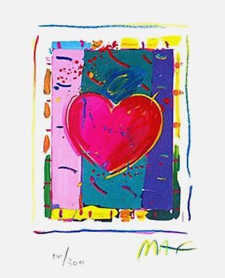 Heart Series IV (Mini) by Peter Max - Fine Artwork