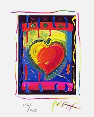 Heart Series V (Mini), Limited Edition Lithograph, Peter Max - Fine Artwork