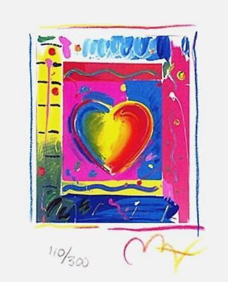 Heart Series III (Mini), Limited Edition Lithograph, Peter Max - Fine Artwork