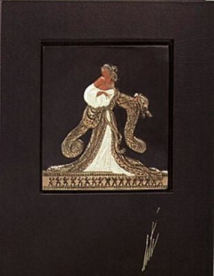 Rigoletto (Bronze) Bas Relief & Signed Book, Ltd Ed, Erté - Fine Artwork