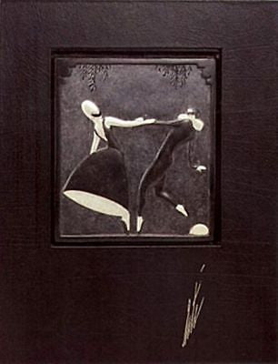 Pas de Duex (Bronze) Bas Relief & Signed Deluxe Book, Ltd Ed, Erté - Fine Artwork
