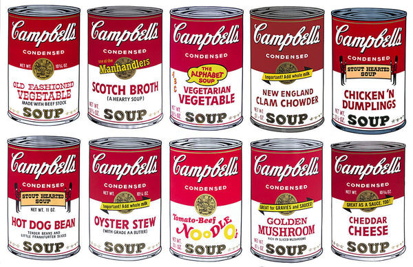 Campbell's Soup-Series II Suite (Sunday B. Morning) - Andy Warhol - Fine Artwork