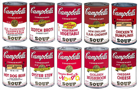 Campbell's Soup-Series II Suite, Silkscreen, Andy Warhol - Fine Artwork