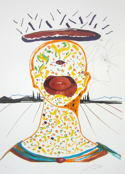 Cyclopean Make-Up, Ltd Ed Mixed Media (Lithograph & Collage), Salvador Dali - Fine Artwork