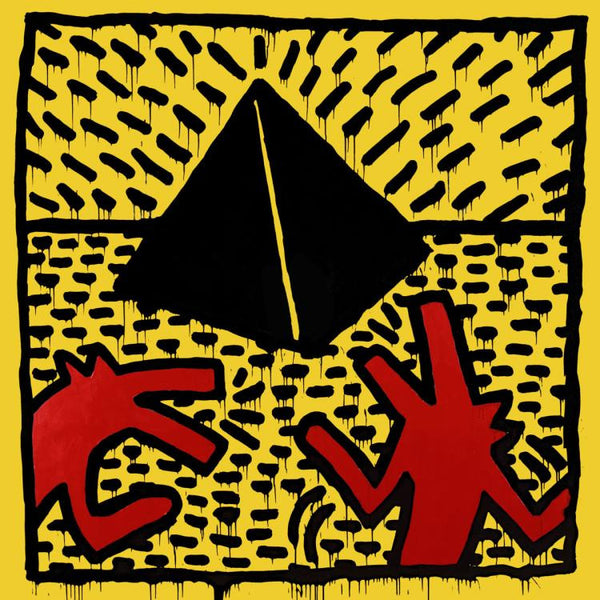 Keith Haring - Untitled, 1982 (Red Dogs with Pyramid) - Fine Artwork