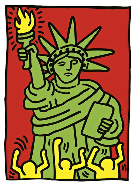 Keith Haring - Statue of Liberty - Fine Artwork