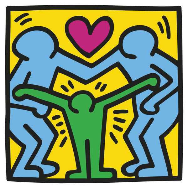 Keith Haring - Untitled (Three Figures) - Fine Artwork