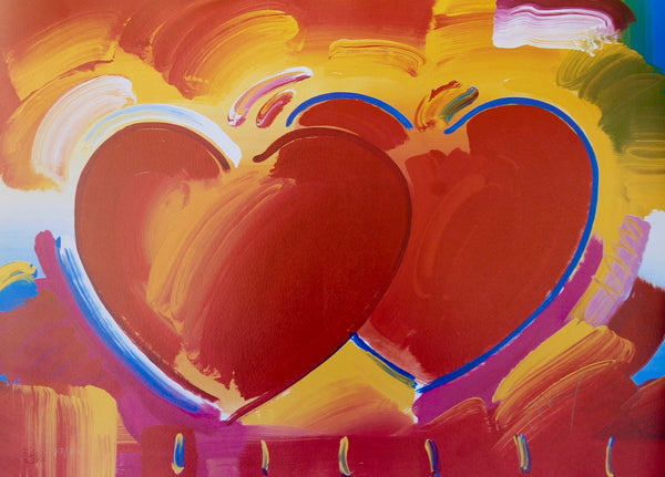 Two Hearts Lithograph by Peter Max - Fine Artwork