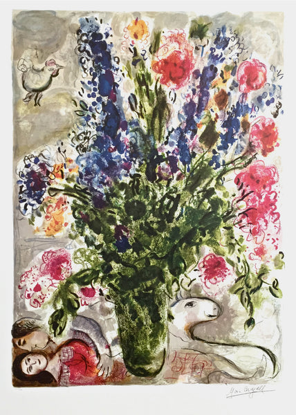 Les Lupin Bleu, Limited Edition Offset Lithograph, Marc Chagall - Fine Artwork